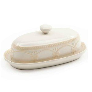 Pioneer Woman Farmhouse Lace Butter Dish Shakers